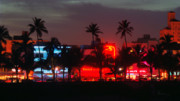 Bauhaus Photo Prints - Ocean Drive Night Life III Print by Frank Boellmann