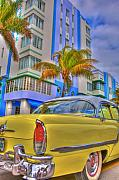 Classic Car Prints - Ocean Drive Print by William Wetmore