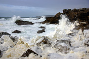 Storm Metal Prints - Ocean Foam Metal Print by Carlos Caetano