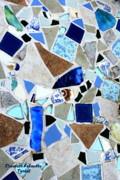 Ocean Glass Mosaics Print by Elizabeth Robinette Tyndall