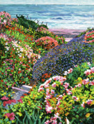 Flower Gardens Painting Prints - Ocean Impressions Print by David Lloyd Glover