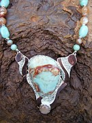 Ocean Jasper Jewelry - Ocean Jasper Peach Moonstone Pendant Necklace by Dyan  Johnson