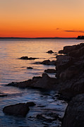 Maine Sunset Framed Prints - Ocean Light Framed Print by Steve Gadomski