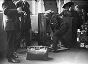 Smuggling Photo Prints - Ocean Liner Passenger Struggling Print by Everett