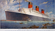 Rms Queen Mary Framed Prints - Ocean Liner Queen Mary Framed Print by Granger