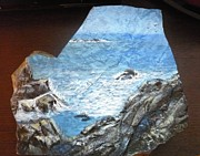 Wet Sculpture Prints - Ocean Print by Monika Dickson