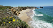 Steep Sand Framed Prints - Ocean Panorama - Santa Cruz - California Framed Print by Brendan Reals