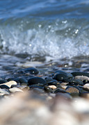 Small Abstract Posters - Ocean Stones Poster by Stylianos Kleanthous