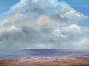 Storm Clouds Paintings - Ocean Storm by Terry Roberson-Wagener