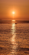 Cruiser Photo Posters - Ocean Sunrise at Montauk Point Poster by William Jobes