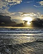 Ocean Sunrise Print by Cathy Lee Stokes
