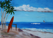 Calif. On Google Painting Originals - Ocean View by Bob Phillips