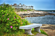 Maine Shore Digital Art Prints - Ocean View Print by Tricia Marchlik