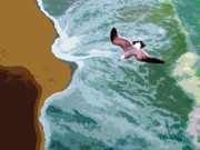 Sea Gull Originals - Ocean Waves - Two by John Lautermilch
