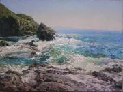 Fine_art Art - Ocean waves beating against the rocks by Andrey Soldatenko