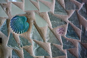 New England Ocean Mixed Media Prints - Ocean Waves Mosaic Closeup Print by Anne Babineau