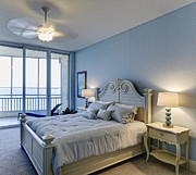 Architectural Design Prints - Oceanfront Bedroom Print by Skip Nall