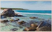 Seascape Pastels Posters - Oceans Edge Poster by Gary Leathendale