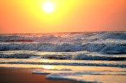 Atlantic Beaches Photo Posters - Oceans Morning Poster by Emily Stauring