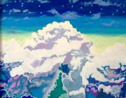 Stairway To Heaven Painting Prints - Oceans Of Clouds Print by Morten Bonnet