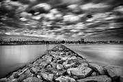 Clouds Art - Oceanside Harbor Jetty 3 by Larry Marshall