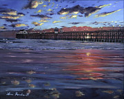 Oceanside Painting Prints - Oceanside Pier Print by Lisa Reinhardt