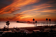 Oceanside Framed Prints - Oceanside Sunset 10 Framed Print by Larry Marshall