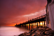 Oceanside Prints - Oceanside Sunset 2 Print by Larry Marshall