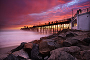 Oceanside Prints - Oceanside Sunset 3 Print by Larry Marshall