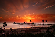 Oceanside Sunset 9 Print by Larry Marshall