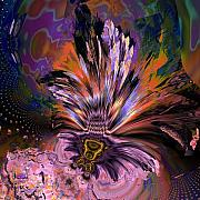 "\""algorithmic Abstract\\\"" Prints - OCF 427 Array of the peacock Print by Claude McCoy"