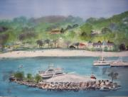Caribbean Sea Paintings - Ocho Rios Jamaica by Carole Robins