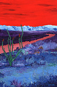Riverbed Paintings - Ocotillo by Randall Weidner