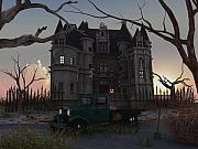 Haunted Mansion Digital Art - OCT 31 at Dusk 1939 by Steven Palmer