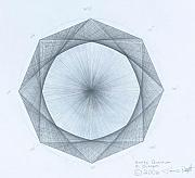 Draw Drawings Prints - Octagon limits Print by Jason Padgett