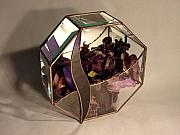 Gift Glass Art - Octagon Potpourri  by Traverse Artglass