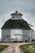 Farming Barns Prints - Octagonal Barn Print by Deborah Smolinske