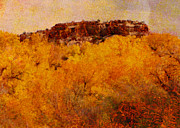 Horizontal Abstract Landscape Prints - October  Print by Ann Powell