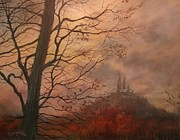 Fall Scene Posters - October at Holy Hill Poster by Tom Shropshire