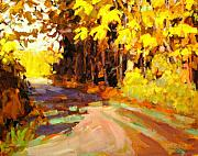 Fall Paintings - October by Brian Simons