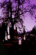 Samhain Digital Art - October Churchyard at Twilight by Lily Silver