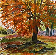 Autumn Drawings Prints - October Feel Print by John  Williams