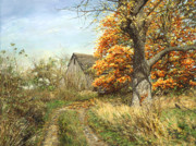 Original Fall Landscape Paintings - October Glory by Doug Kreuger