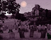 Haunted House Digital Art - October Moon by Donna Cavanaugh