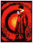 Reds Of Autumn Posters - October Moon Poster by Janiece Senn