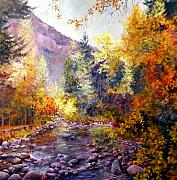 Brilliant Paintings - October River by Bonny Roberts
