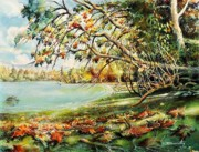 Etc. Paintings - October-Rocky Pont Park by Dumitru Barliga