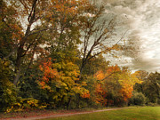 Autumn Landscape Digital Art - October Skies  by Jessica Jenney