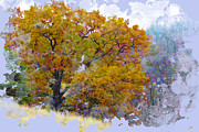 Fall Landscape Digital Art - October Song by Ron Jones