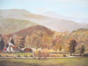Smoky Mountains Paintings - October Wonderland by Charles Roy Smith